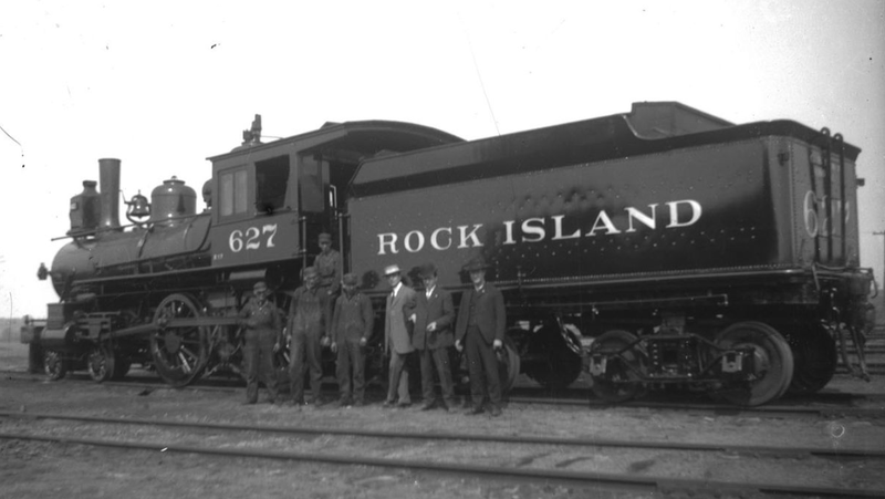 Historic Photo of Train Engine